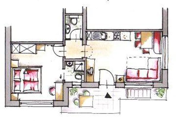 wohnung nr 2 r schhof haus pichler. Black Bedroom Furniture Sets. Home Design Ideas